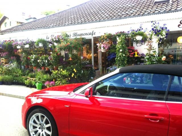 Blumencafe, Starnberg, Audi A5 Cabrio, The Goddess