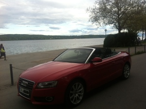 Audi A5 Cabrio, Starnberger See abends