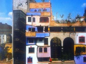 Baummieter in einem Haus von dem Architekten Friedensreich Hundertwasser in Wien