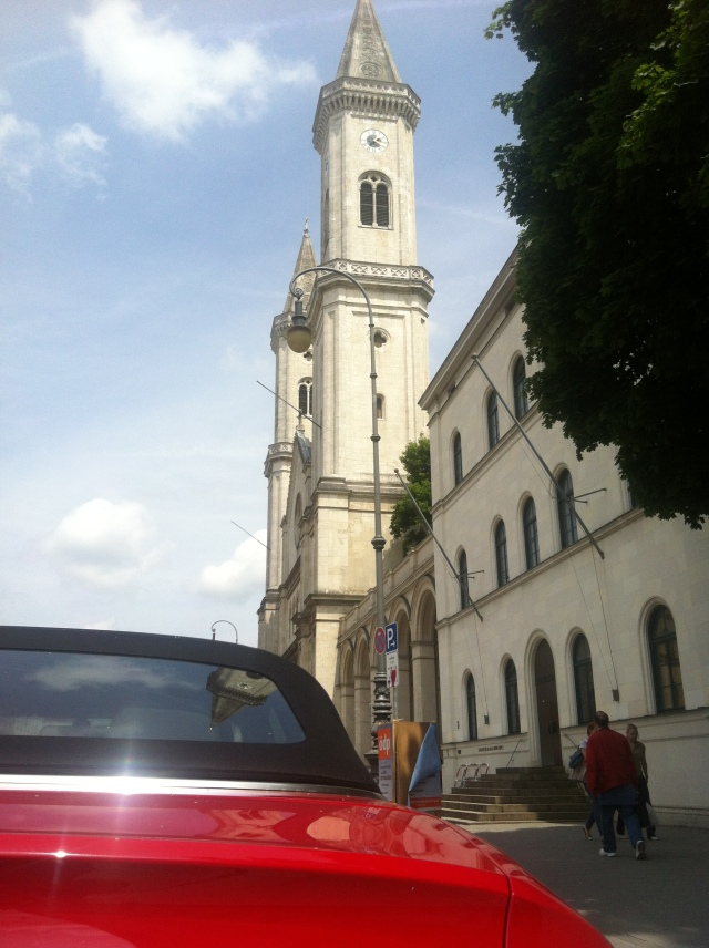 Audi A5 Cabriolet, Ludwigskirche,  München Copyright by Sabine Engert