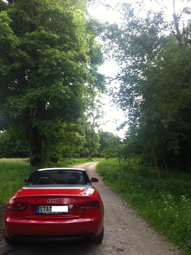 Audi A5 Cabrio auf dem Wege