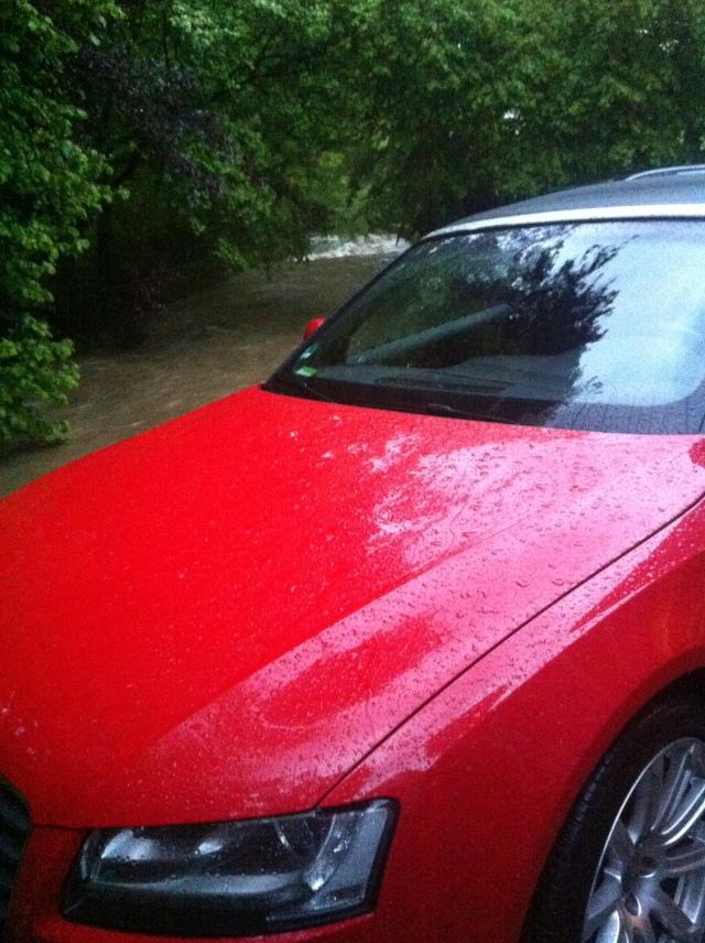 Starnberg, Dauerregen, Audi A5 Cabriolet