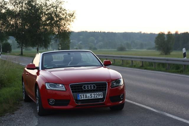 Audi A5 Cabrio im Abendlicht
