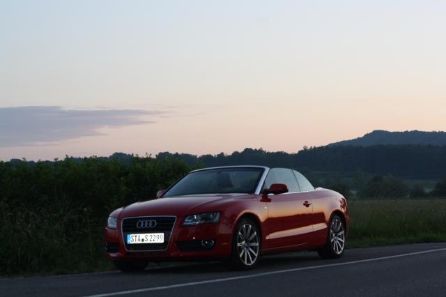 Audi A5 Cabrio im Abendlicht beim Ammersee