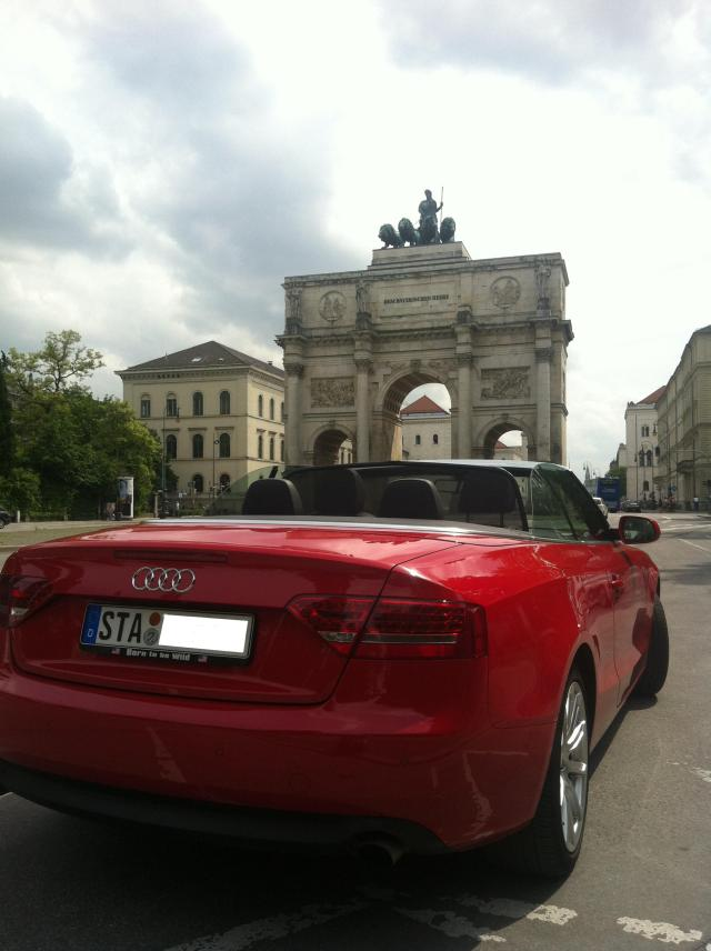 Audi A5 Cabriolet, München, Siegestor, Copyright by Sabine Engert