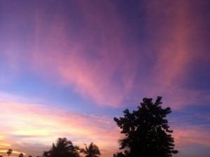 Sonnenuntergang bei Tejakula, Bali