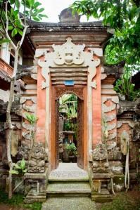 Eingang zur Pension Pondok Bulan Mas auf Bali