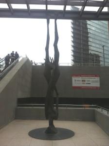 Skulptur von Giordano Bruno am Potsdamer Platz in Berlin
